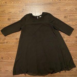 New York & Company Eva Mendes | Brown dot dress